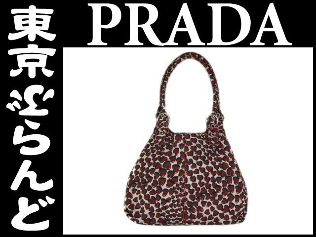 プラダ デザイン トートバッグ レッド 1