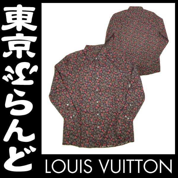 ヴィトン メンズシャツ カジュアル 花柄 XL 3 apm