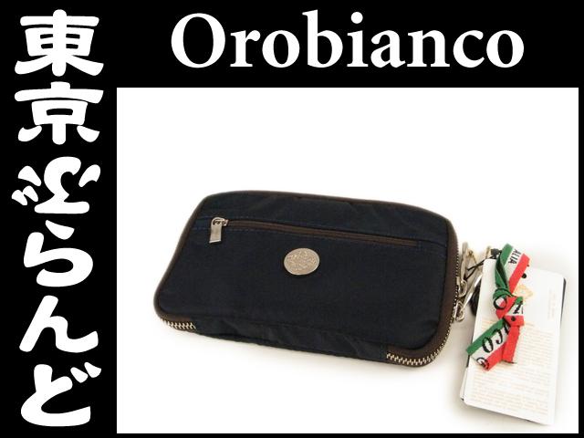 オロビアンコナイロン手帳カバー ネイビー未使用1 MR