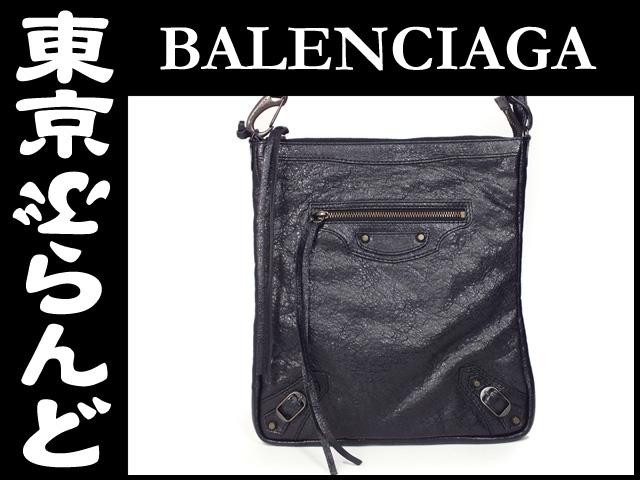 バレンシアガ フラット ショルダーバッグ 黒 3
