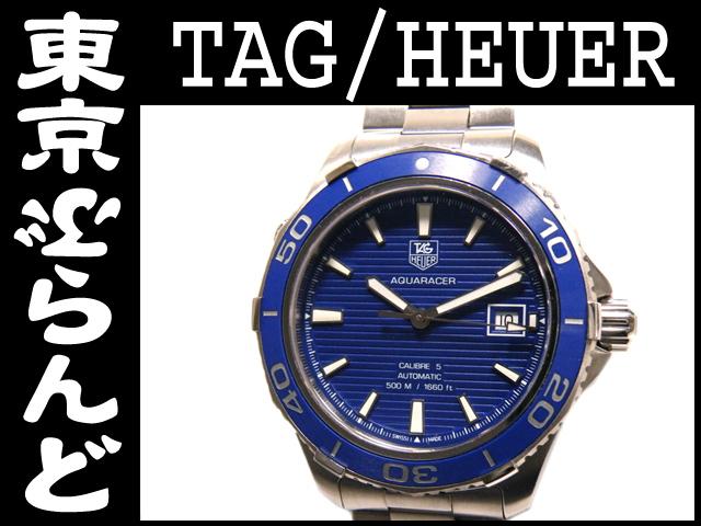タグホイヤー アクアレーサー メンズ腕時計 青 10