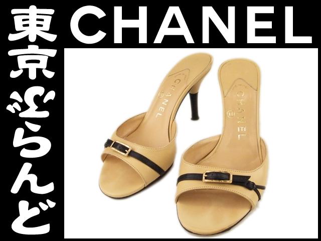 シャネル レディース ミュール ベージュ 靴 #35 1