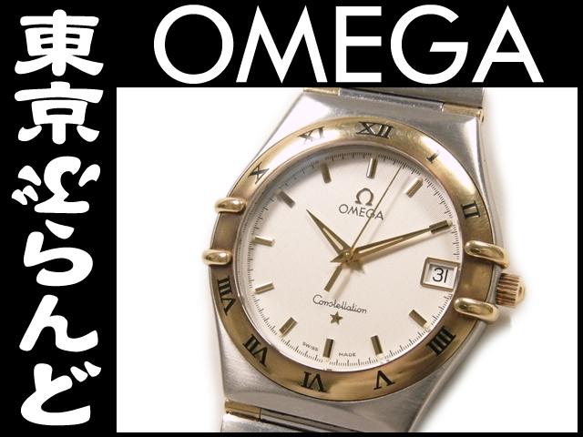 オメガ コンステ デイト SS×YG メンズ腕時計 131230