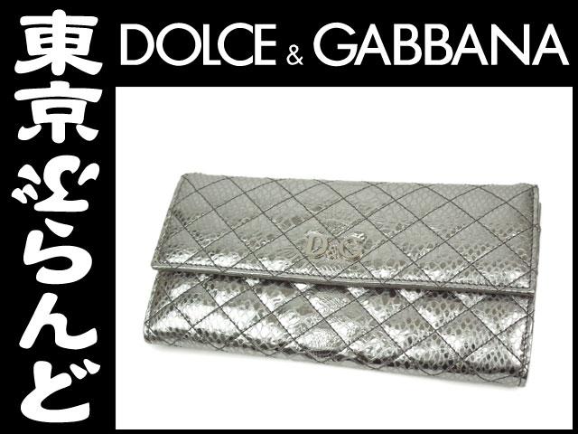 d0eb5f71db5a ドルチェ ガッバーナ(DOLCE GABBANA) 二つ折り長財布