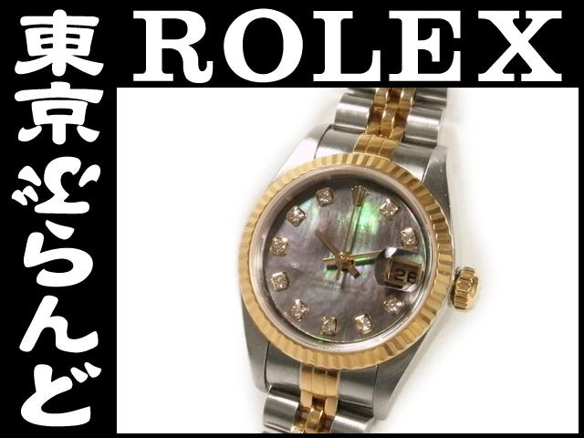ロレックス 79173NG ブラックシェル K番 10PダイヤPW