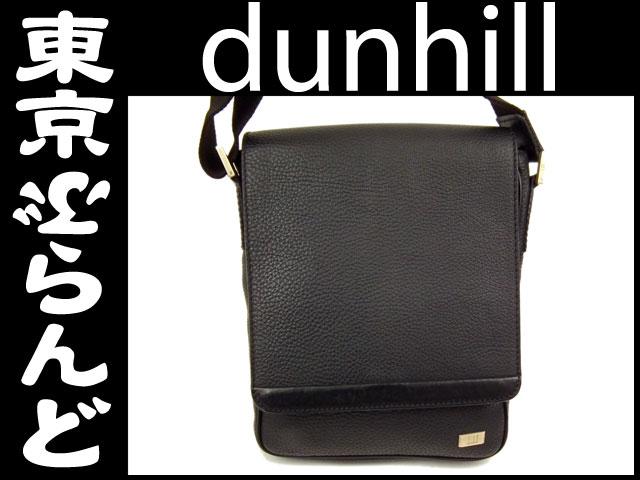 ダンヒル レザー ショルダーバッグ 黒 ブラック 1