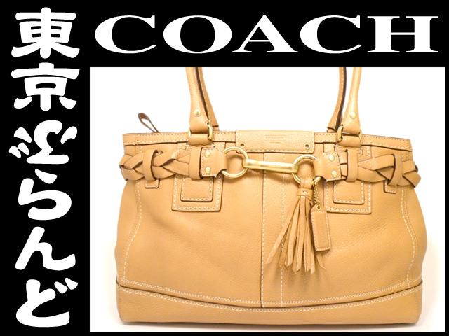 コーチ(COACH) レザー トートバッグ 茶 1