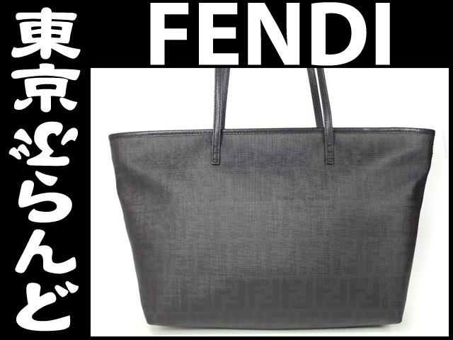 フェンディ ズッカ柄 トートバッグ 黒 3