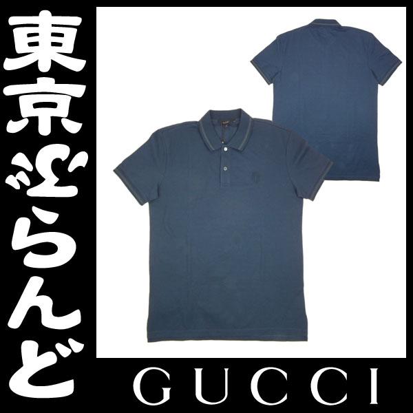 グッチ メンズ ポロシャツ 半袖 ブルー 未使用 1 apm