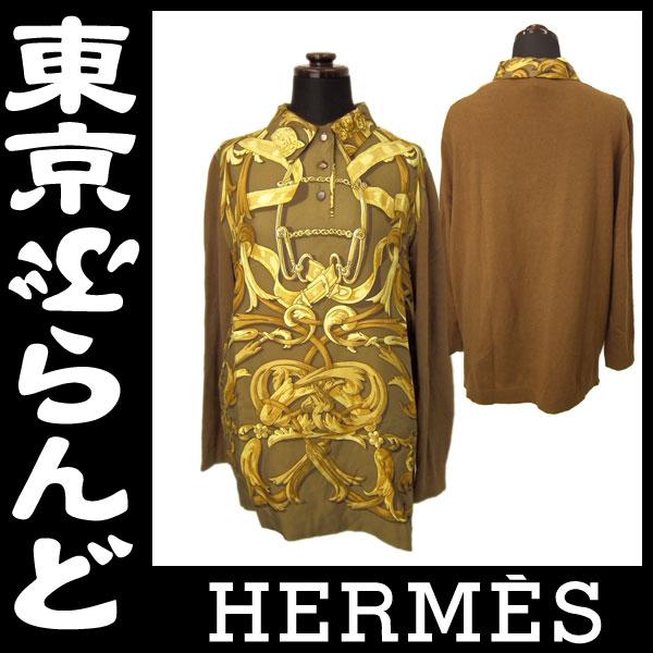 エルメス レディースカジュアルシャツ シルク 1 apl