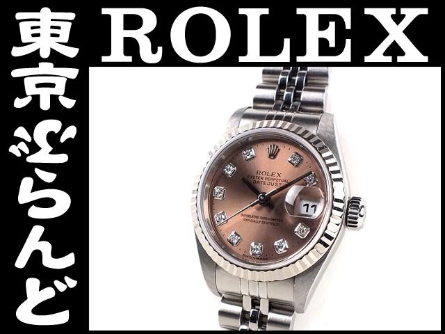 ロレックス デイトジャスト79174G腕時計K番ダイヤ PW