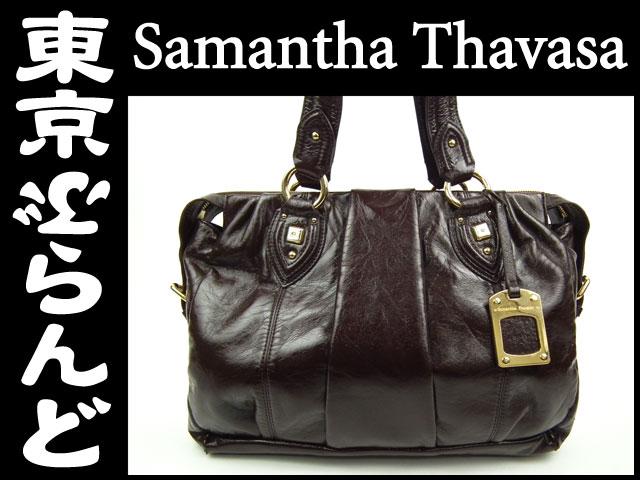 サマンサタバサ(Samantha Thavasa) トートバッグ茶1