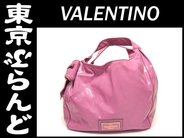 ヴァレンチノ エナメル ハンドバッグ パプル 1