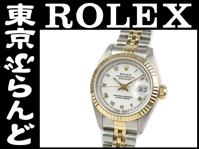 ロレックスデイトジャスト69173T番腕時計YGSSコンビPW