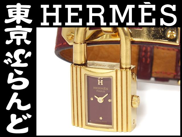 エルメス ケリー腕時計 ボルドー  QZ 腕時計 3