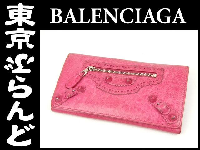 バレンシアガ ジャイアントマネー 長財布 ピンク