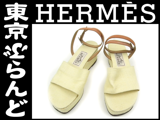 エルメス レディース サンダル 靴 23.5cm 黄 1