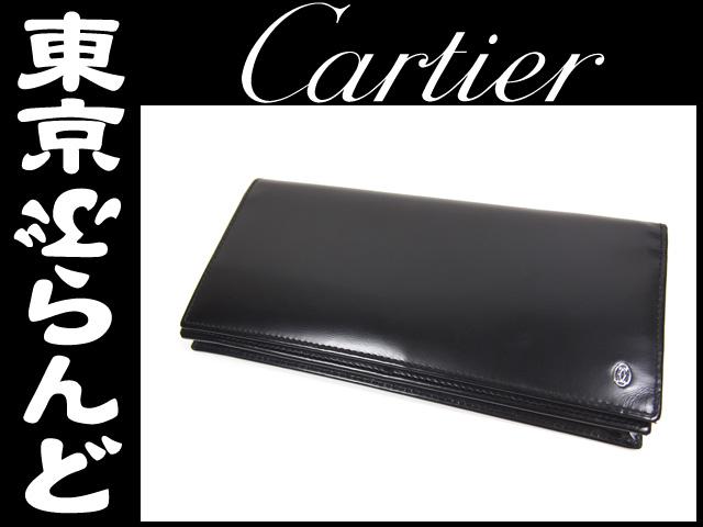 カルティエ パシャ 二つ折り長財布 黒 ブラック 1