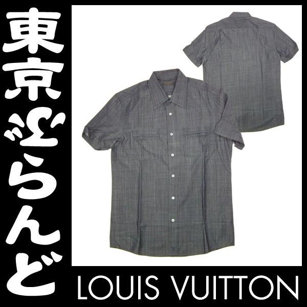 ルイ・ヴィトン メンズシャツ デニム グレー #42 2 apm