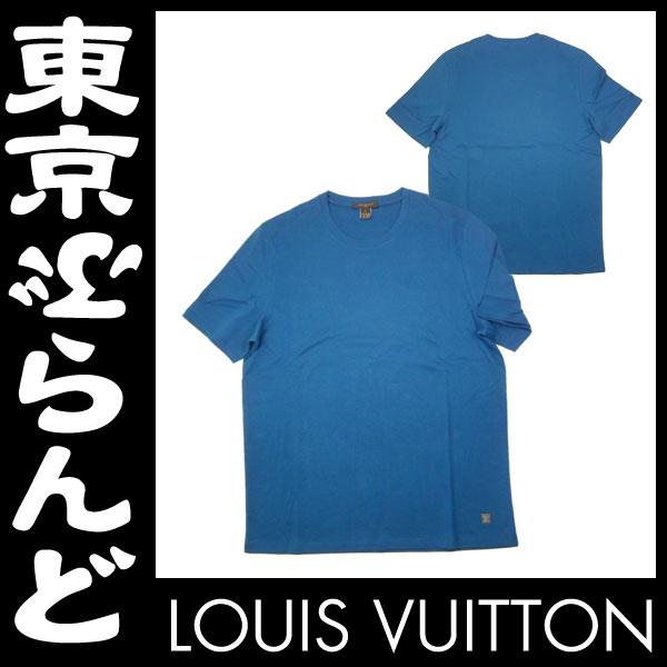 ルイ・ヴィトン メンズ 半袖 Tシャツ L ブルー 2 apm