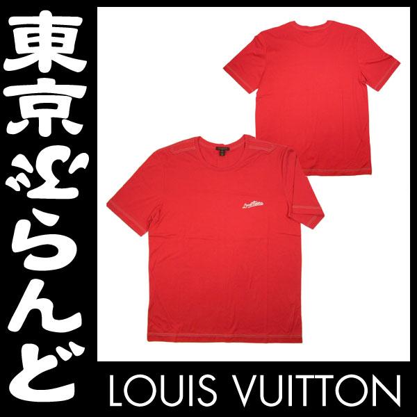 ヴィトン メンズ 半袖 Tシャツ XL 赤 レッド 1 apm
