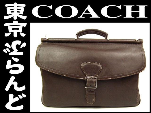 コーチ ビジネスバッグ カーフレザー ブラウン 3