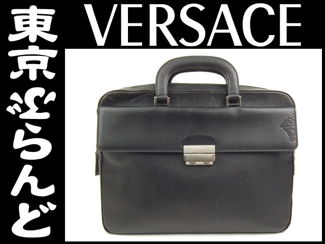 ヴェルサーチ ビジネスバッグ ブリーフケース 黒 2
