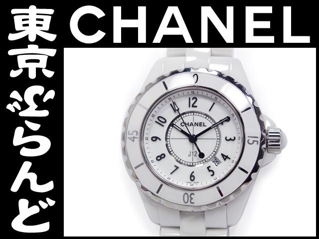 シャネル J12 白セラミック レディース腕時計 10