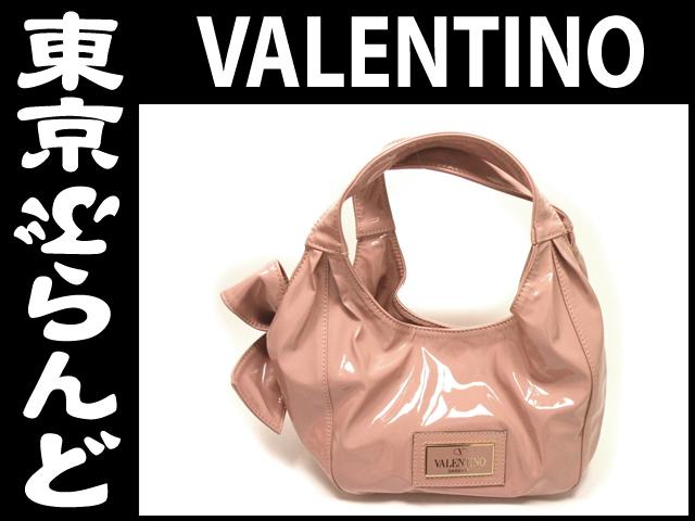 ヴァレンチノ エナメル ハンドバッグ ピンク 1