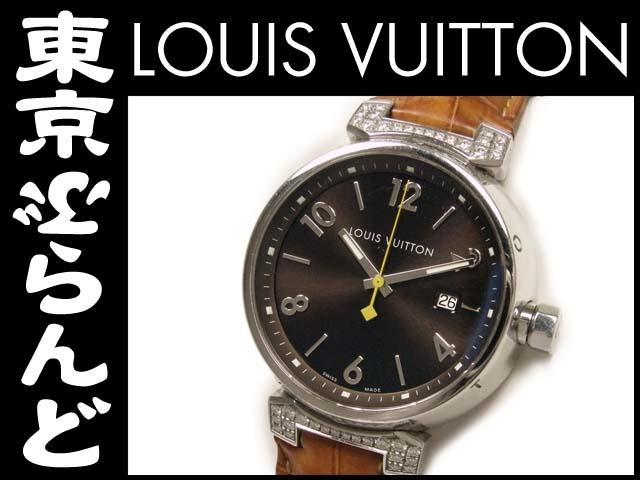 88f381834807 ルイ・ヴィトン(LOUIS VUITTON) タンブール メンズ時計 ラグダイヤ Q111G