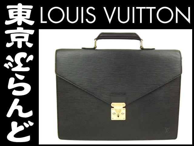 1円ヴィトンエピアンバサダービジネスバッグ書類鞄黒