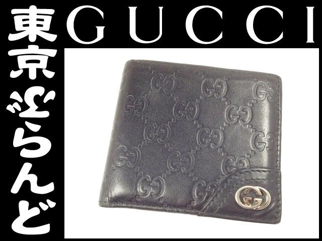 グッチ シマ 二つ折り財布 181671 黒 1