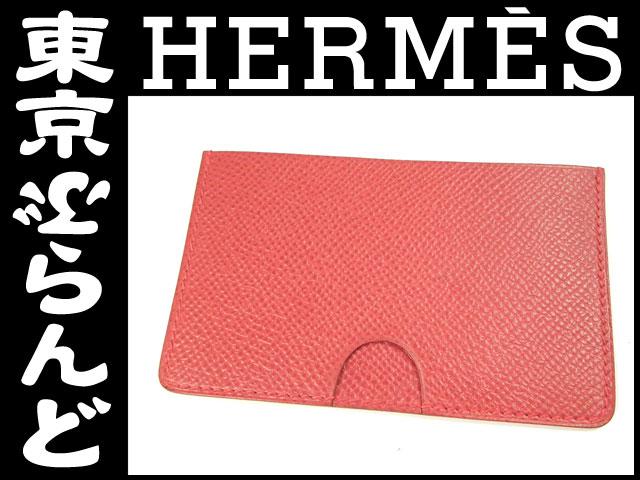 エルメス カードケース パスケース クシュベル 赤1