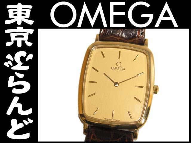 オメガ デビル  メンズ腕時計 ゴールド×革ベルト1