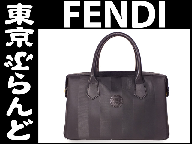 フェンディ (FENDI) PVC ハンドバッグ ブラック 黒