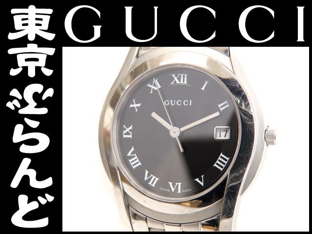 グッチ メンズ腕時計 5500M QZ 黒 SS ブラック