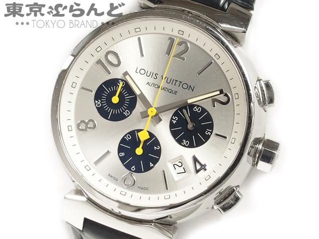 1円 ヴィトン タンブール クロノ メンズ腕時計Q112E