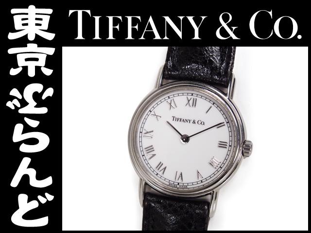 ティファニー マークラウンド レディース腕時計