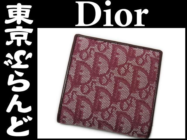 ディオール トロッター キャンバス 二つ折り財布