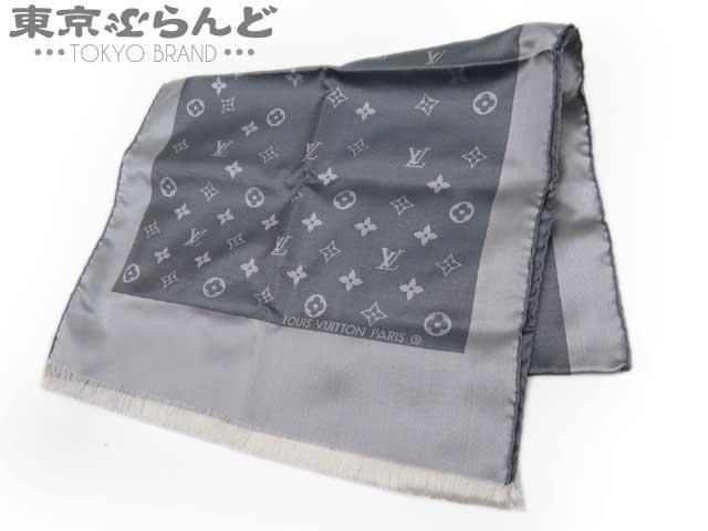 ヴィトン モノグラム スカーフ シルク グレー 1