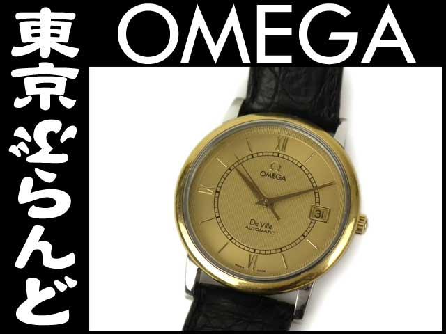オメガ デビル メンズ腕時計 革ベルト 自動巻 9