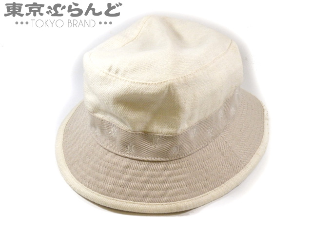 エルメス ハット 帽子 婦人用 ホワイト 白 #56