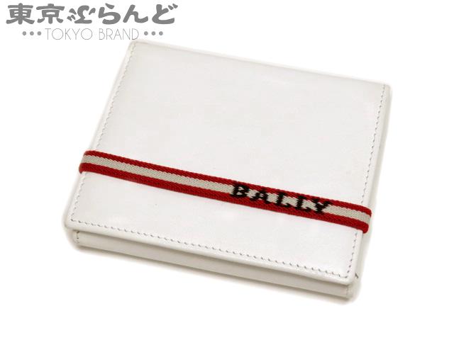 バリー(BALLY) レザー 二つ折り財布 ホワイト 白