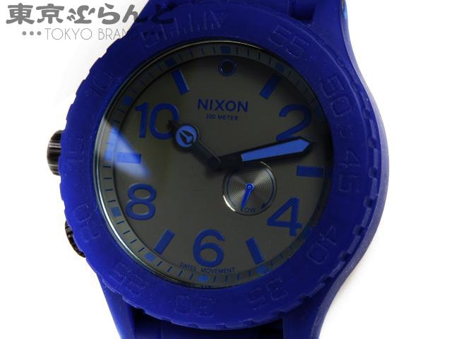 1円 ニクソン NIXON 51-30 ザ ラバー メンズ腕時計 青