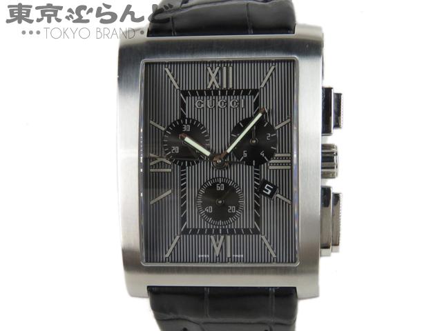 グッチ 腕時計 クロノグラフ QZ ブラック 8600M 3
