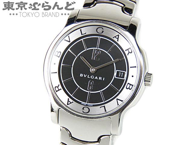 ブルガリ ソロテンポ ST35S メンズ腕時計 黒 QZ 4