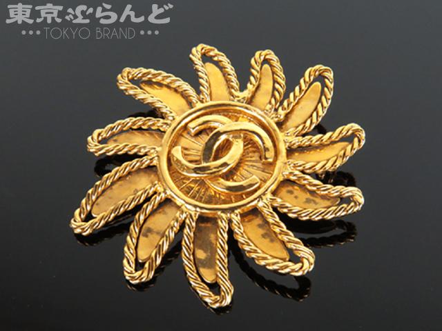 1円 シャネル ブローチココマーク94A太陽ヴィンテージ