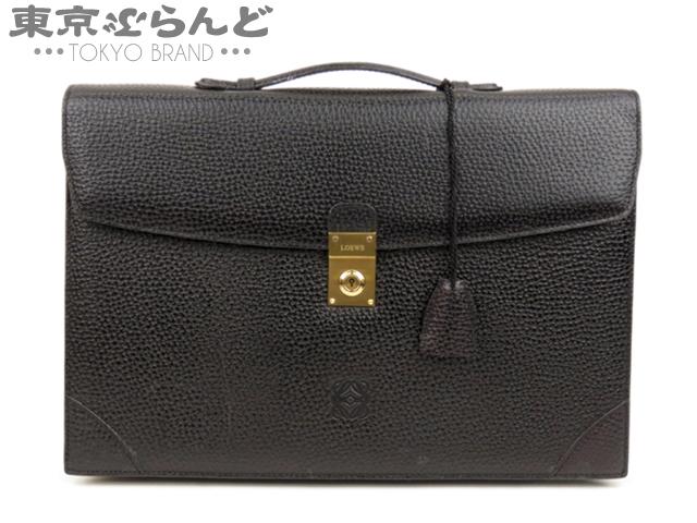 ロエベ レザー 書類鞄 ビジネスバッグ 黒 3