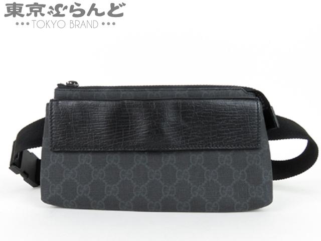 グッチ ウエストバッグ ブラック PVC GGプラス 1