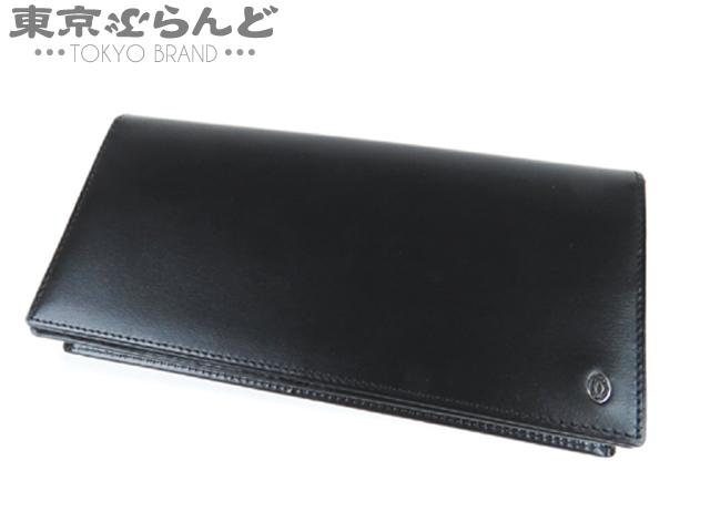 カルティエ パシャ 二つ折り長財布 レザー 黒 3